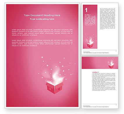 Holiday/Special Occasion: Love Box Word Template #02964