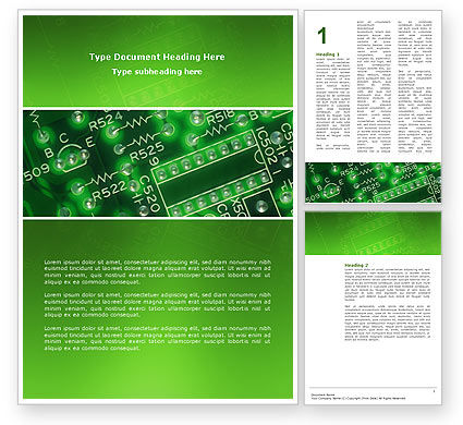 Technology, Science & Computers: Integrated Circuit Word Template #02973