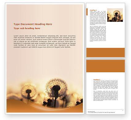 Free Dandelion Word Template, 02981, Nature & Environment — PoweredTemplate.com