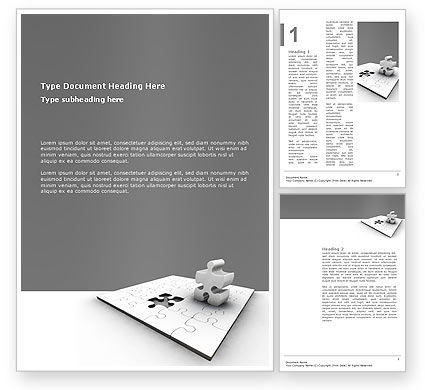 Business Concepts: Part Word Template #02984