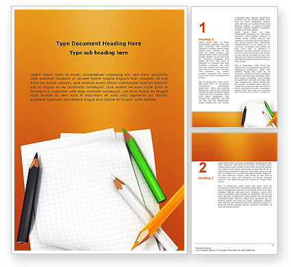 Education & Training: Notebook Word Template #02990