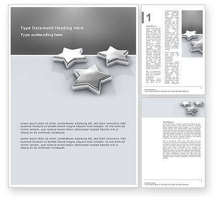 Careers/Industry: Stars Word Template #03006
