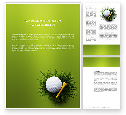 Golf Ball In The Nest Word Template, 03010, Sports — PoweredTemplate.com