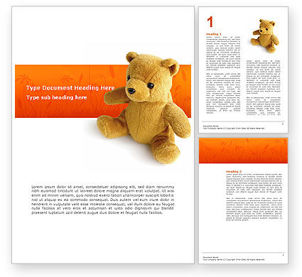 Toy Word Template, 03013, Holiday/Special Occasion — PoweredTemplate.com