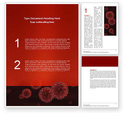 Red Corpuscles Word Template, 03014, Medical — PoweredTemplate.com