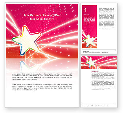 Careers/Industry: Disco Star Word Template #03020