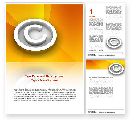 Copyright Sign Word Template, 03021, Legal — PoweredTemplate.com