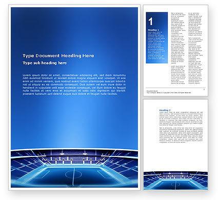 Stadium Word Template, 03022, Sports — PoweredTemplate.com