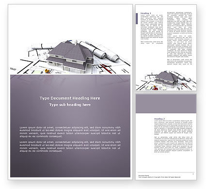Construction: Townhouse Project Word Template #03027
