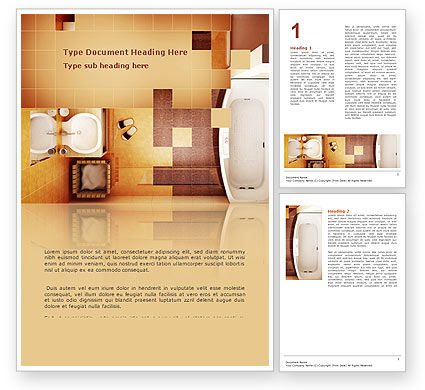 Careers/Industry: Plantilla de Word - baño #03039