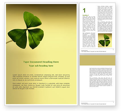 Shamrock Word Template, 03052, Nature & Environment — PoweredTemplate.com