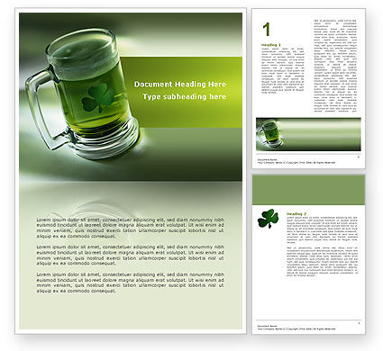 St. Patrick Word Template, 03054, Food & Beverage — PoweredTemplate.com