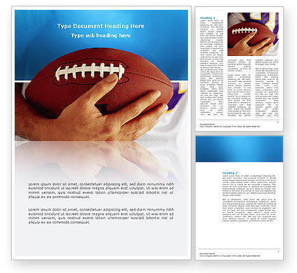 Sports: American Football Ball And Rugby Ball Word Template #03055
