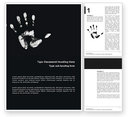 Hand Print Word Template, 03057, Religious/Spiritual — PoweredTemplate.com