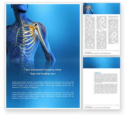 Medical: Bones Word Template #03063