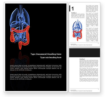 Bowels Word Template, 03065, Medical — PoweredTemplate.com