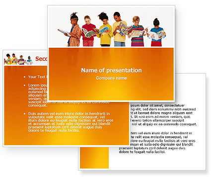 Children's Literature PowerPoint Template, Children's Literature Background