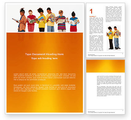 Children's Literature Word Template, 03068, Education & Training — PoweredTemplate.com