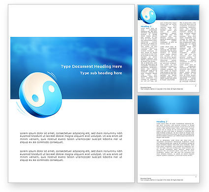 Blue Yin Yang Word Template