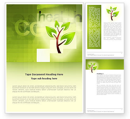 Nature & Environment: Green Health Word Template #03083