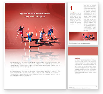 Competition Word Template, 03086, Sports — PoweredTemplate.com