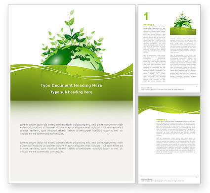 Nature & Environment: Green Environment Word Template #03091
