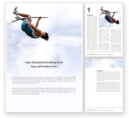 Sports: Jumping Word Template #03108