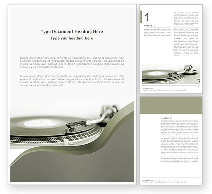 Art & Entertainment: Record Player Word Template #03122