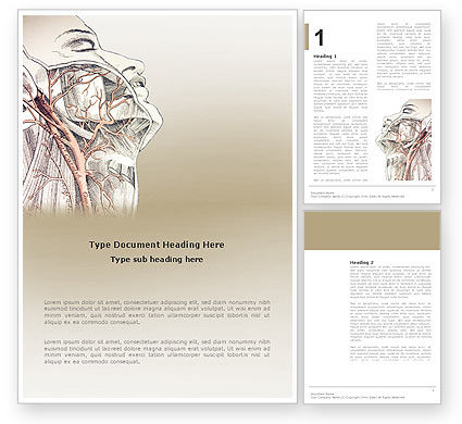 Medical: Craniofacial Anatomy Word Template #03127