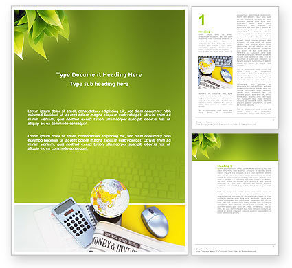Financial/Accounting: Business World Newspaper Word Template #03134