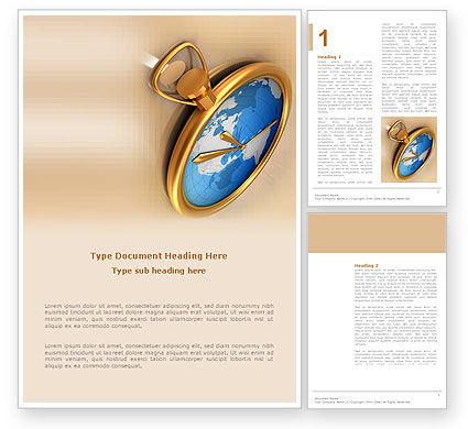 Clocks Word Template, 03146, Business Concepts — PoweredTemplate.com