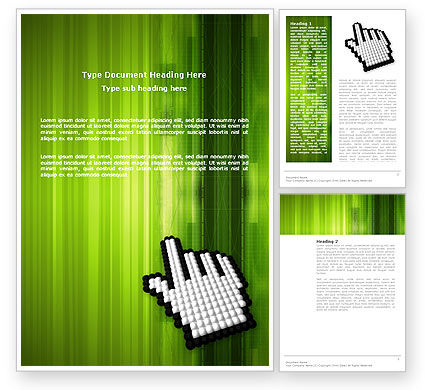 Cursor Hand Word Template, 03148, Technology, Science & Computers — PoweredTemplate.com