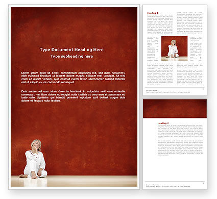 Lady In White Word Template, 03149, People — PoweredTemplate.com