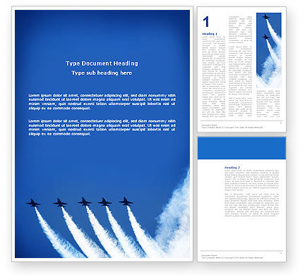 Military: Aviation Parade Word Template #03150