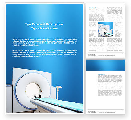 Medical: Tomography Machine Word Template #03151