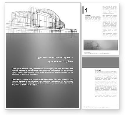 Building Design Word Template, 03154, Construction — PoweredTemplate.com