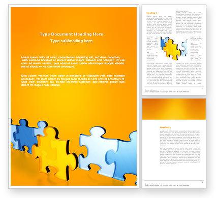 Jigsaw Chain Word Template, 03165, Abstract/Textures — PoweredTemplate.com