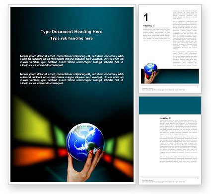 Global Power Word Template, 03167, Global — PoweredTemplate.com