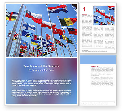 Flags/International: United Nations Word Template #03169