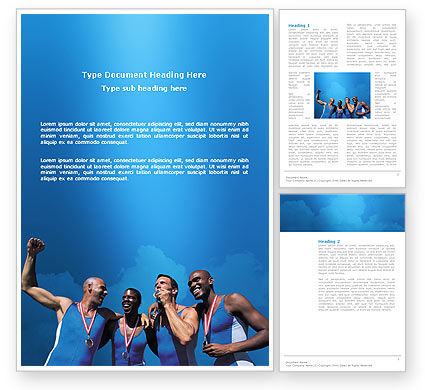 Sport Victory Word Template, 03175, Sports — PoweredTemplate.com
