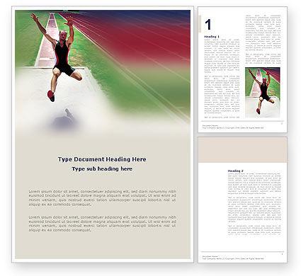 Broad Jump Word Template, 03179, Sports — PoweredTemplate.com