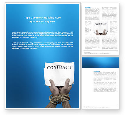Business: Contract Word Template #03181