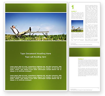 Ecological Environment Word Template, 03184, Technology, Science & Computers — PoweredTemplate.com