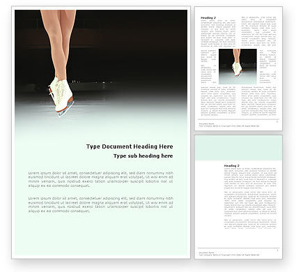 Sports: Dancing On Ice Word Template #03206