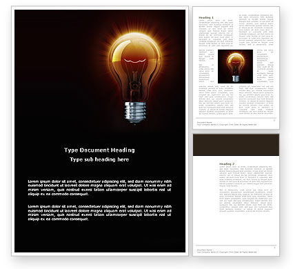 Light Bulb Word Template, 03218, Business Concepts — PoweredTemplate.com