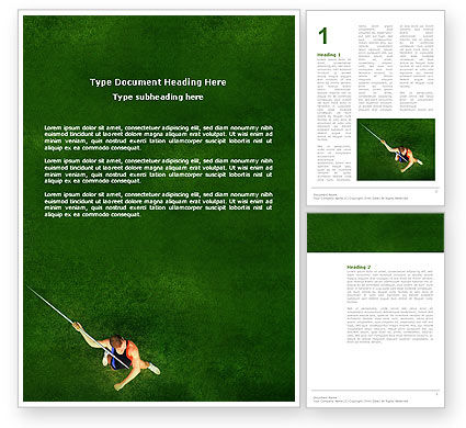 Sports: Spear Thrower Word Template #03222