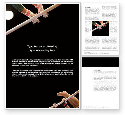 Sports: Sport Gymnastics Word Template #03225
