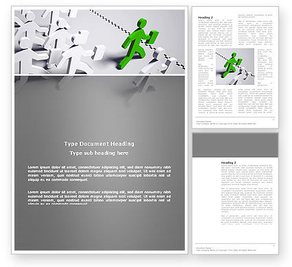 Business Concepts: Business Work Word Template #03229