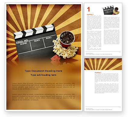 films and cinema word template