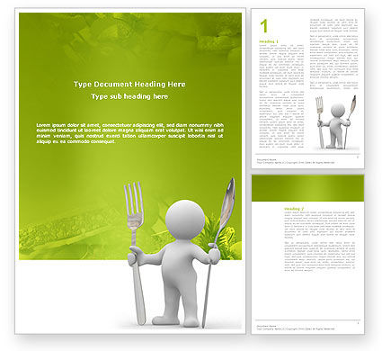 Careers/Industry: Meal Word Template #03236